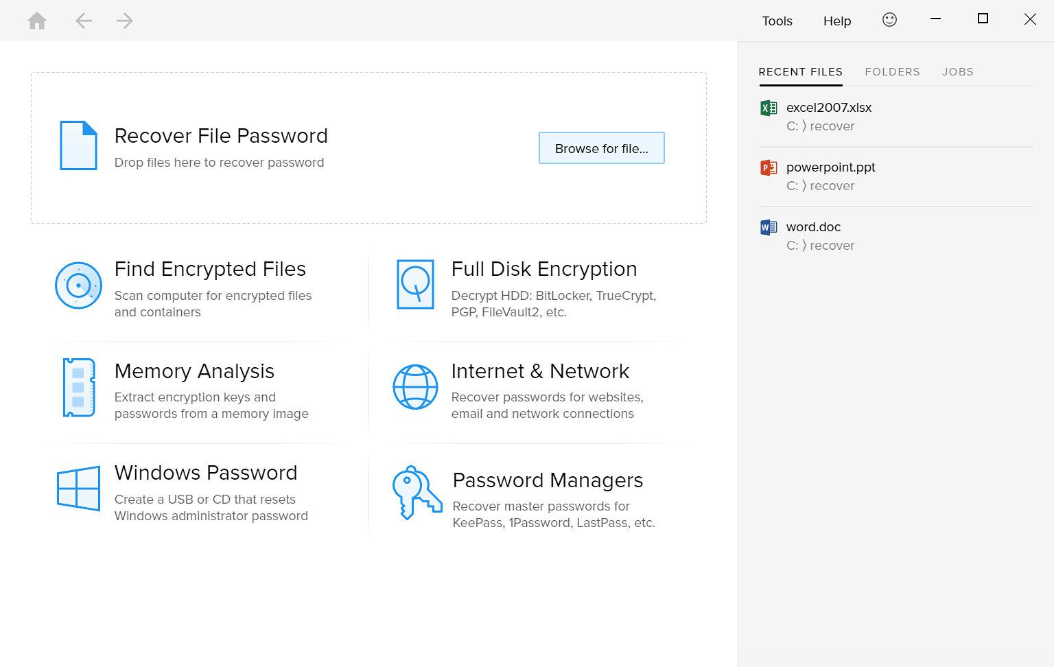 Passware Kit Enterprise screenshot